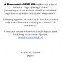 Kommunal-JUNK Kft tájékoztatója.