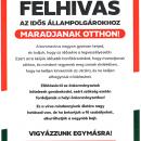 Felhívás Idős Állampolgárokhoz!