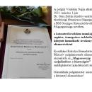 Kosztkáné Rokolya Bernadettet Piliscsév polgármesterének elismerése.